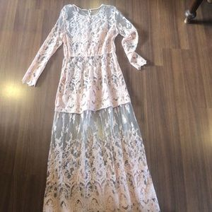 Free People Blush Pink size Large Dress Cover